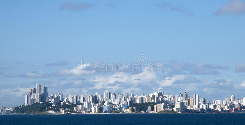 Salvador de bahia. A beautiful town in brasil royalty free stock photos