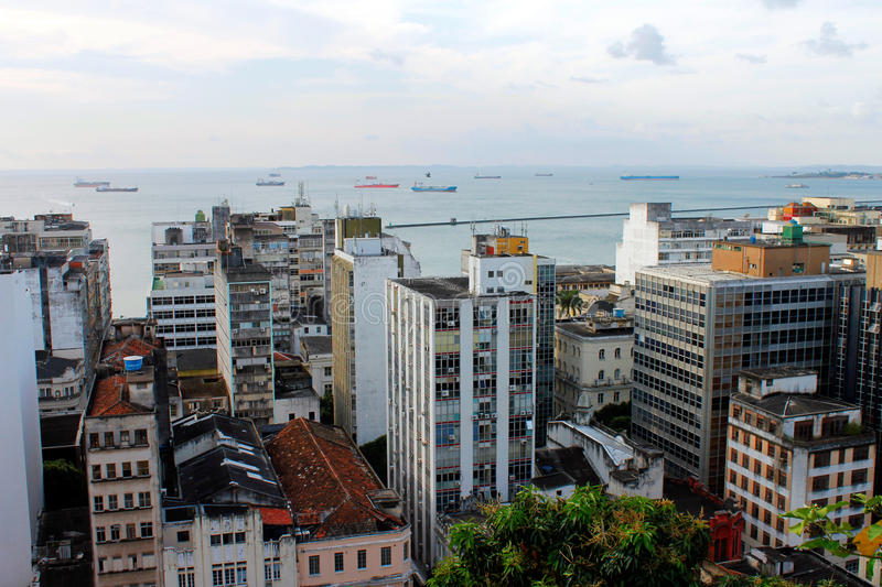 Salvador de Bahia cityscape. Salvador is the capital and coastal city of Bahia, Brazil stock photo