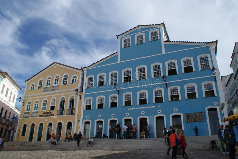 Salvador de Bahia. Pelourinho, City of Salvador de Bahia royalty free stock image