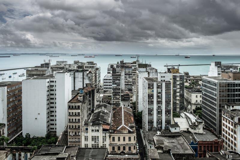 Salvador de Bahia, stad scape royalty-vrije stock afbeelding