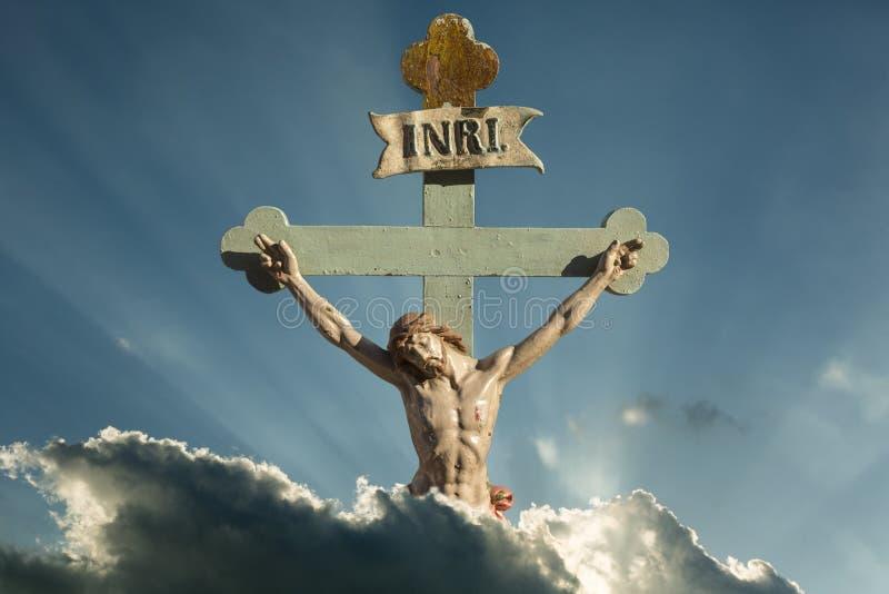 Salvador de Jesus Christ INRI de cristianos foto de archivo libre de regalías