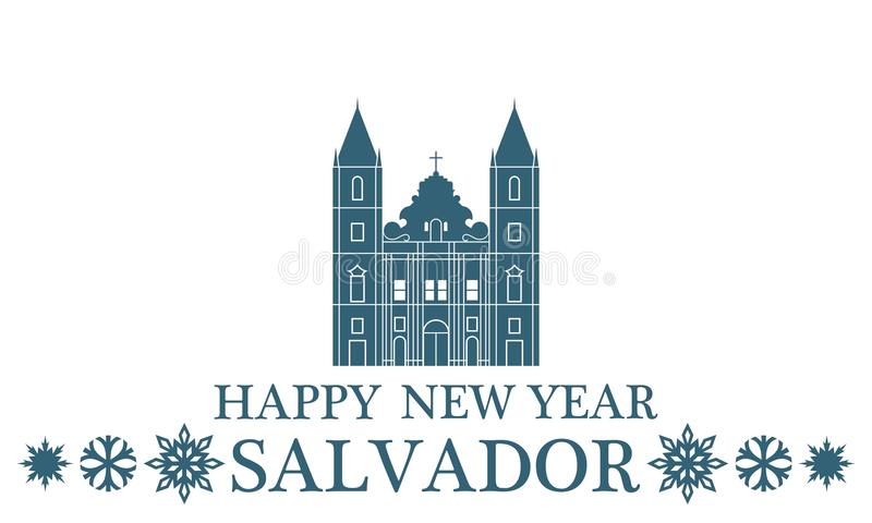Salvador för lyckligt nytt år royaltyfri illustrationer