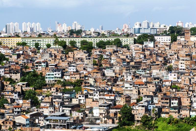 Salvador i Bahia, panoramautsikt fotografering för bildbyråer