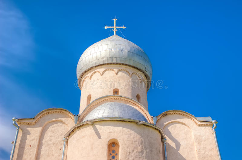 Salvador Nereditsa da igreja de Rússia Veliky Novgorod fotografia de stock