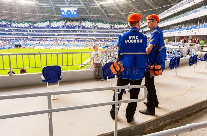 Salvadores em Samara Arena Stadium imagens de stock
