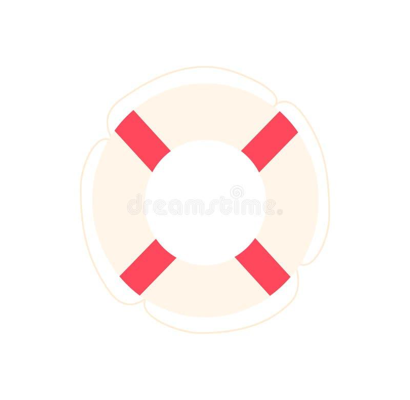 Salvagente isolato su bianco illustrazione di stock