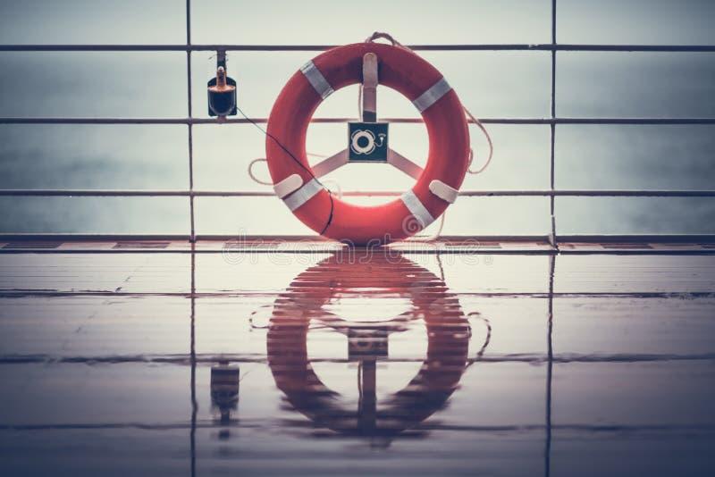 Salvagente Ling della nave da crociera immagini stock
