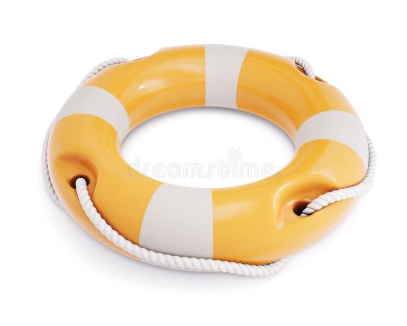 Salvagente per sicurezza in mare, isolato su fondo bianco Lifeb illustrazione di stock