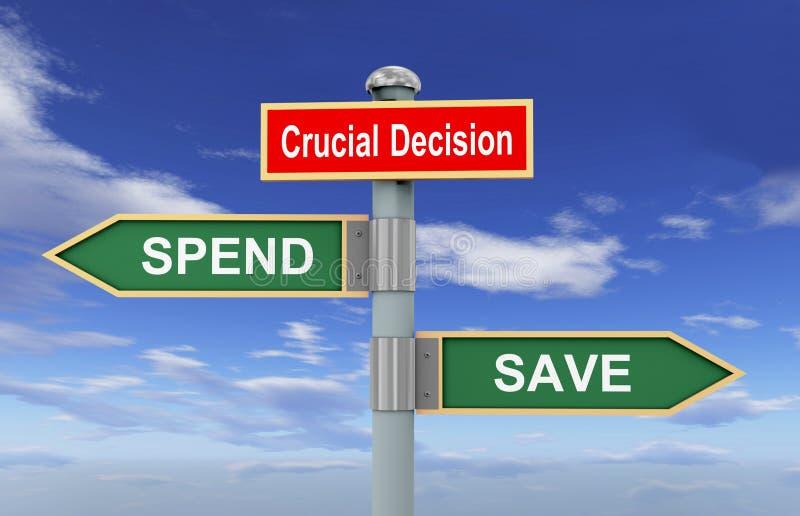 A salvaguarda do sinal de estrada ou gasta ilustração do vetor