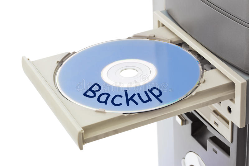 Salvaguardia del ordenador y de disco foto de archivo