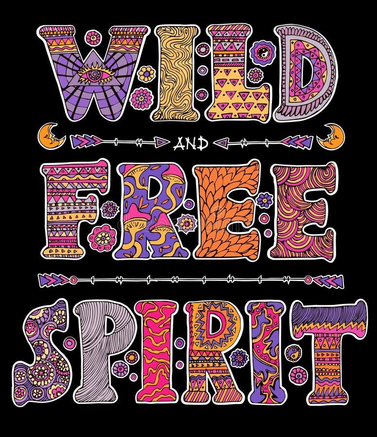Salvaje y espíritu libre stock de ilustración