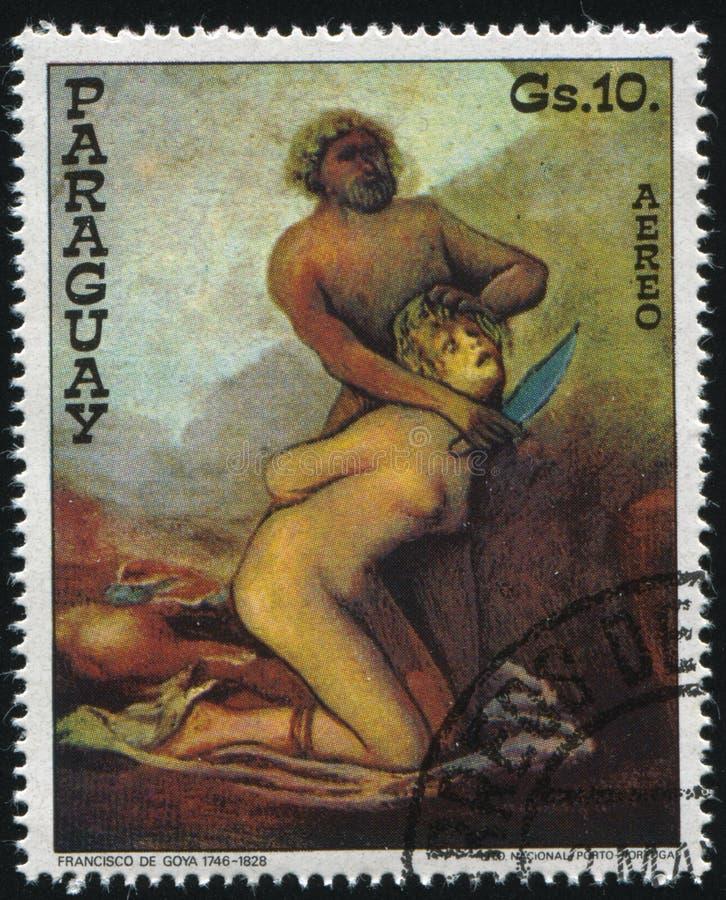 Salvajes que asesinan a una mujer de Francisco de Goya fotos de archivo libres de regalías
