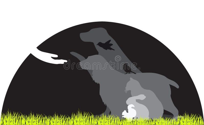 Salvamento animal ilustração stock