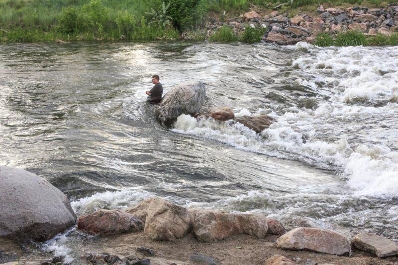 Salvamento da água no rio fotos de stock royalty free