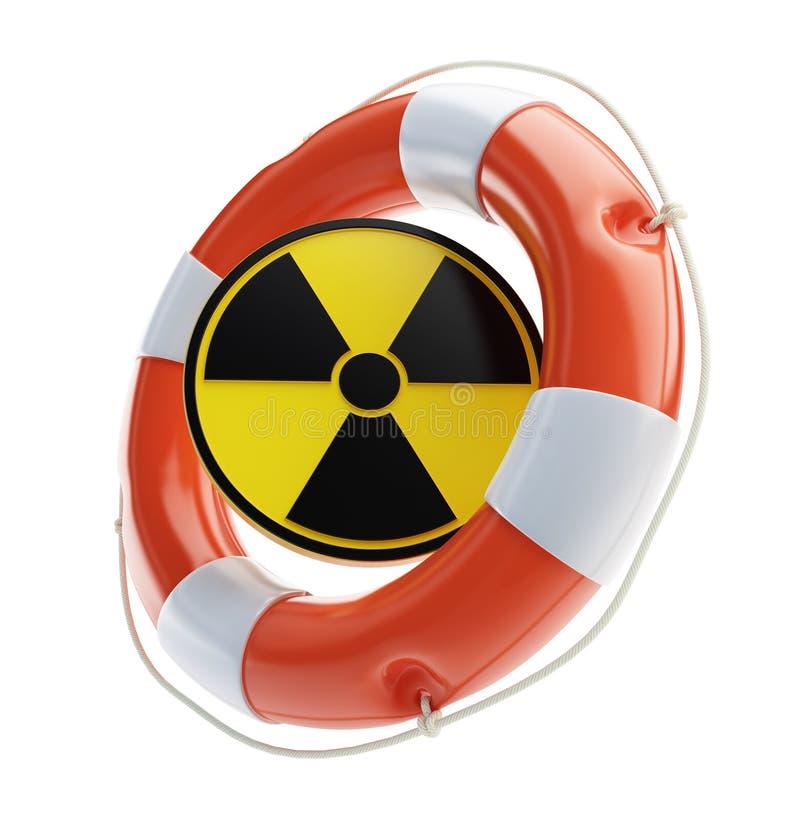 Salvamento da energia nuclear ilustração royalty free
