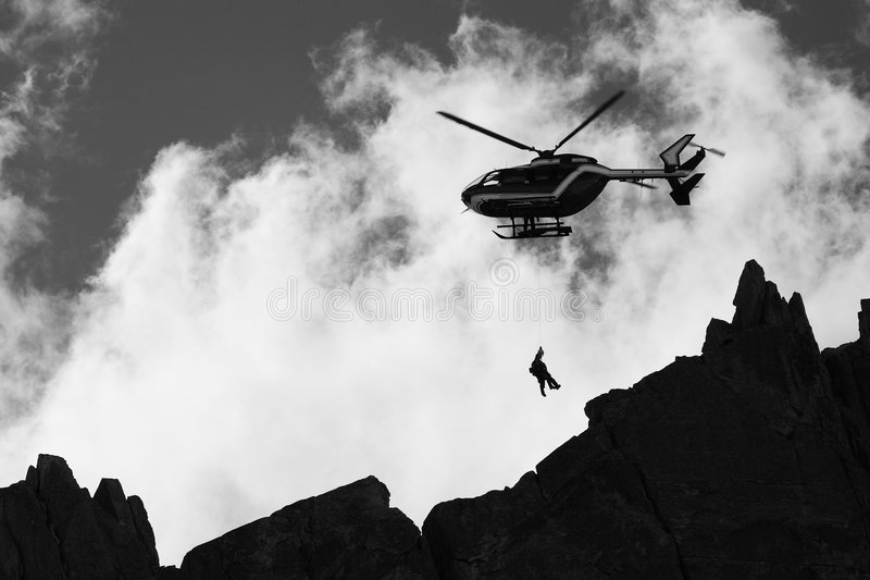 Salvamento da montanha fotografia de stock