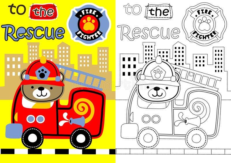 Salvamento do fogo ilustração royalty free