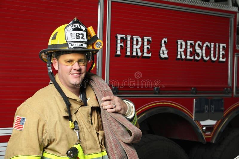 Salvamento do incêndio fotos de stock
