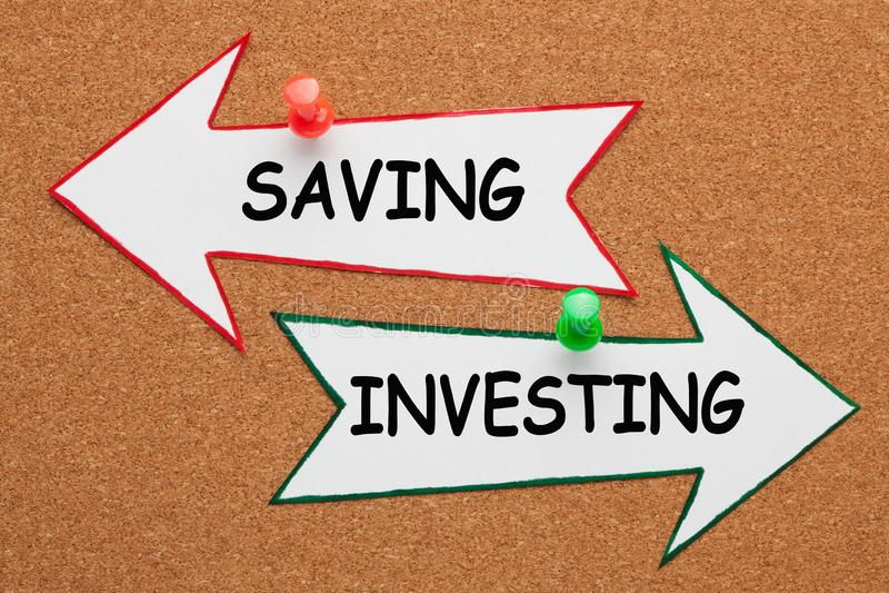 Salvamento investindo o conceito foto de stock royalty free