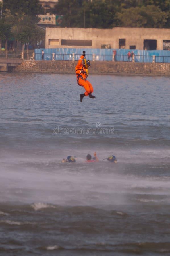 Salvamento sobre a água imagens de stock royalty free
