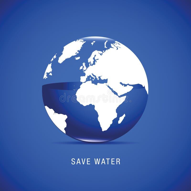 Salvar a água para a terra ilustração do vetor