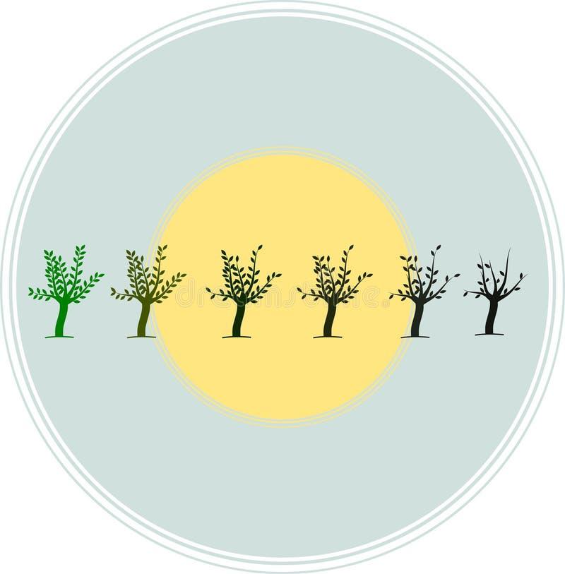 Salvar árvores salvar a terra e a ilustração ilustração stock