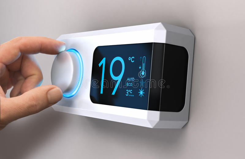 Salvar a energia, reduzindo o uso da eletricidade ilustração stock