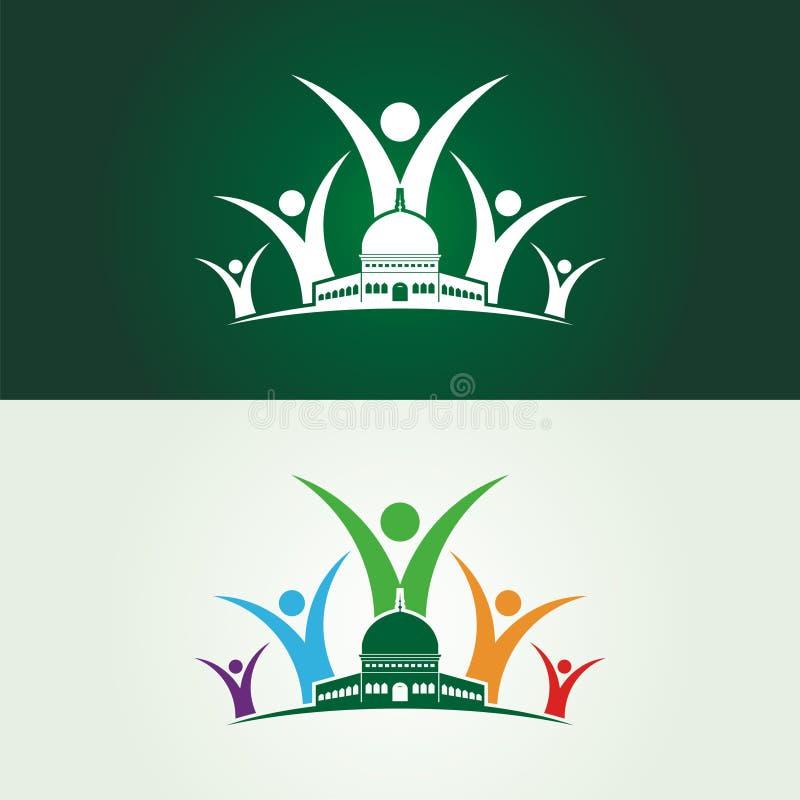 Salvar a ilustração do Jerusalém com logotipo humano ilustração stock