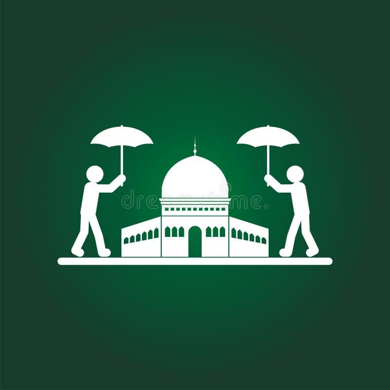 Salvar a ilustração do Jerusalém com logotipo humano ilustração do vetor