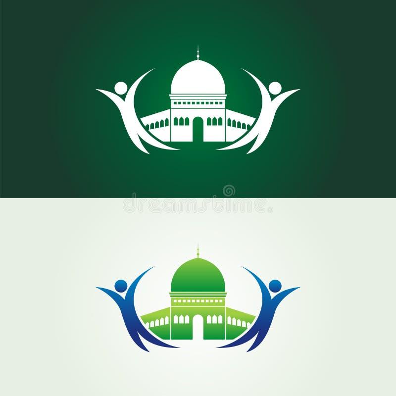 Salvar a ilustração do Jerusalém com logotipo humano ilustração royalty free