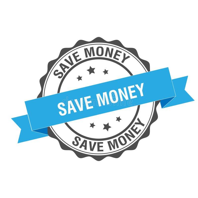 Salvar a ilustração do selo do dinheiro ilustração stock