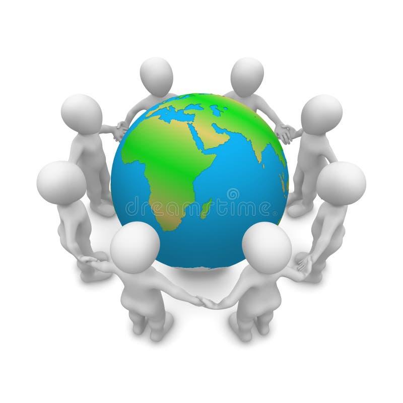 Salvar nosso planeta! ilustração do vetor