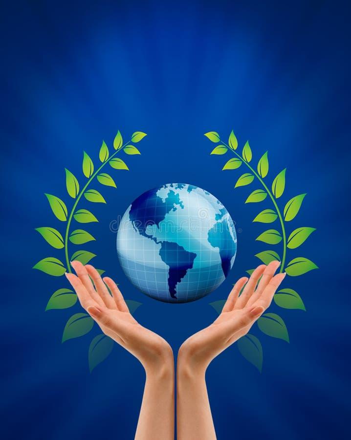 Salvar o conceito da natureza da terra ilustração do vetor