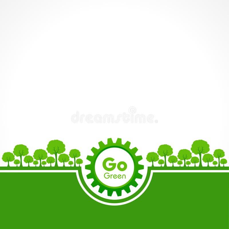 Salvar o conceito da natureza - dia de ambiente de mundo ilustração do vetor