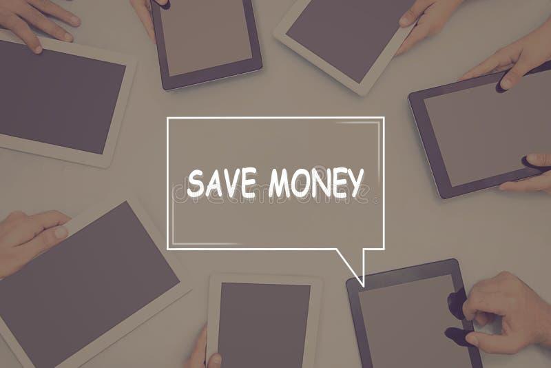 SALVAR o conceito do negócio do CONCEITO do DINHEIRO fotos de stock royalty free