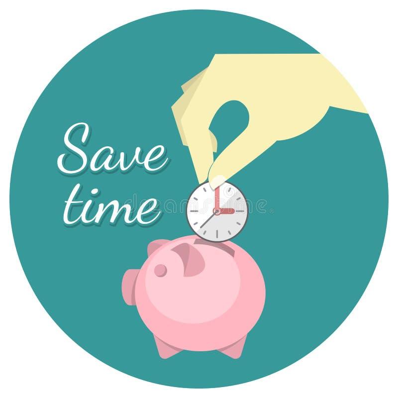 Salvar o conceito do tempo ilustração stock
