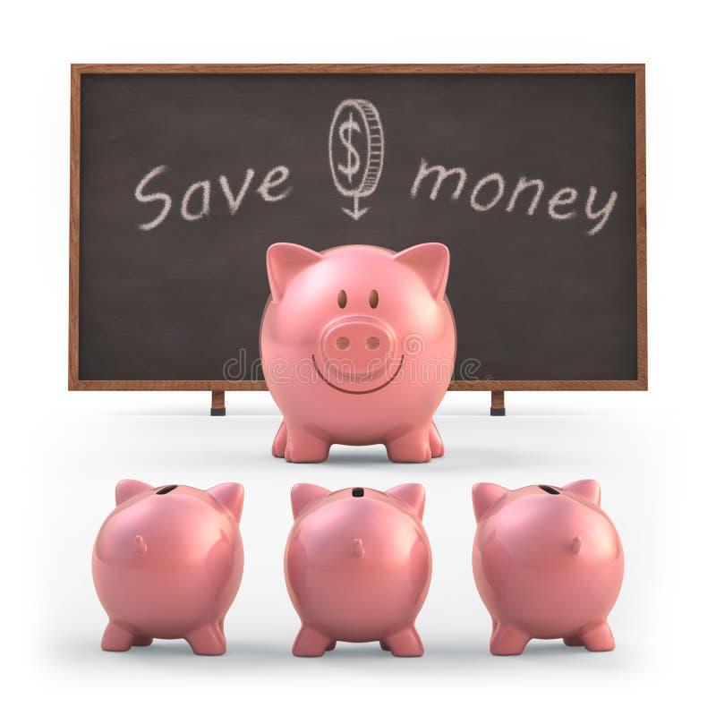 Salvar o dinheiro fotografia de stock