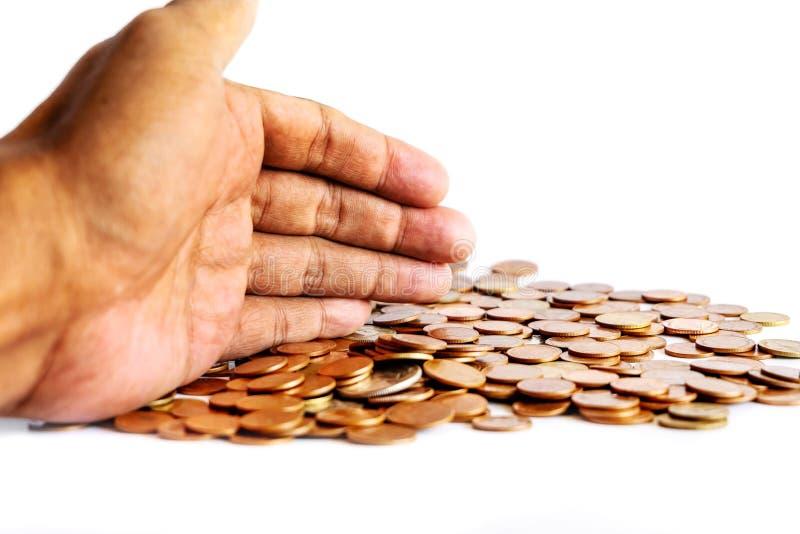 Salvar o dinheiro e explique opera??o banc?ria o conceito do neg?cio da finan?a fotografia de stock