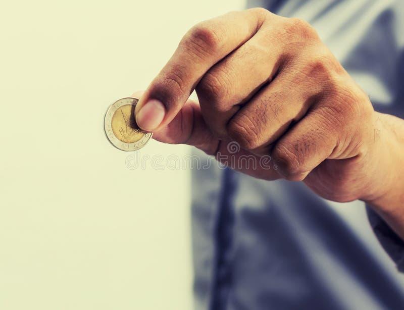 Salvar o dinheiro para a aposentadoria e explique conceito da operação bancária imagens de stock royalty free
