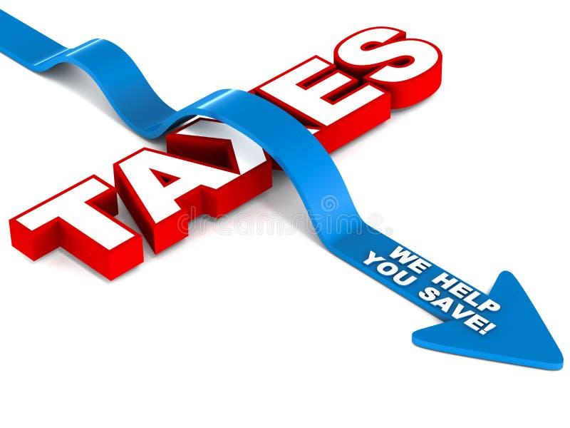 Salvar o imposto ilustração stock