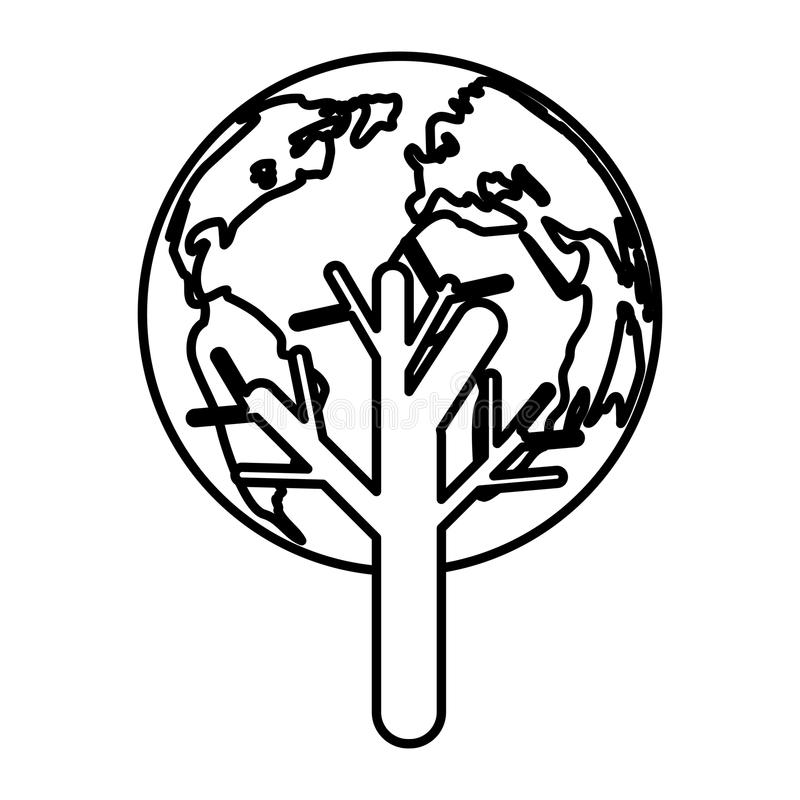 Salvar o mundo ilustração royalty free