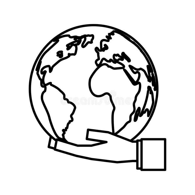 Salvar o mundo ilustração do vetor