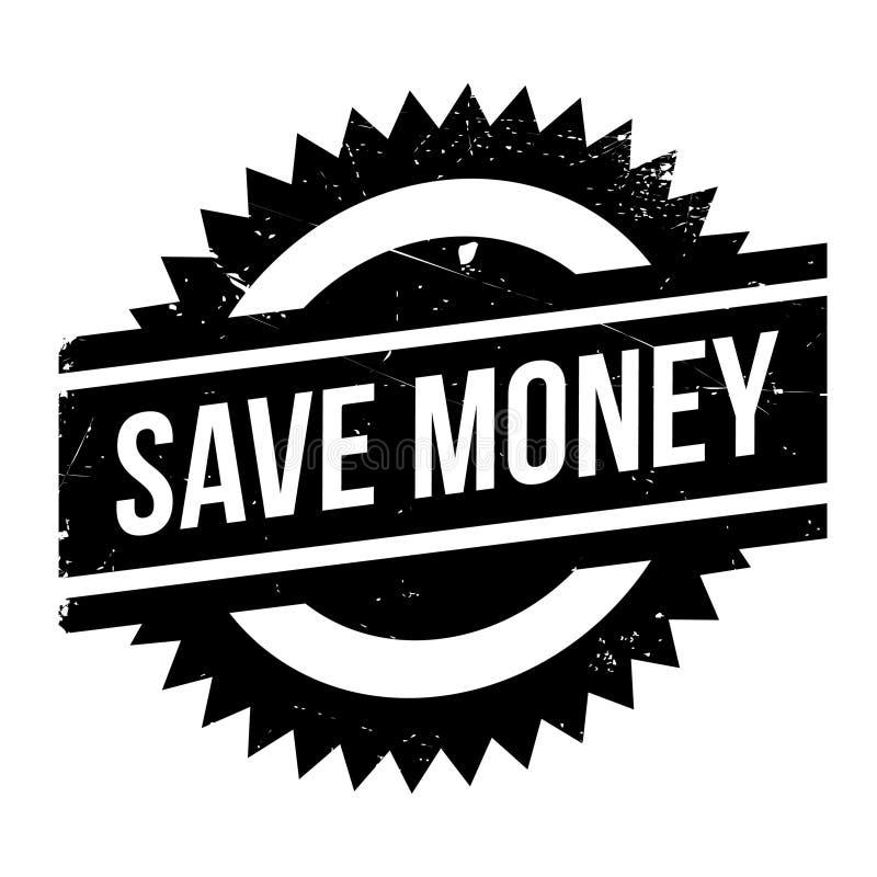 Salvar o selo do dinheiro ilustração stock
