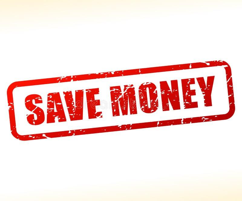 Salvar o selo do texto do dinheiro ilustração stock