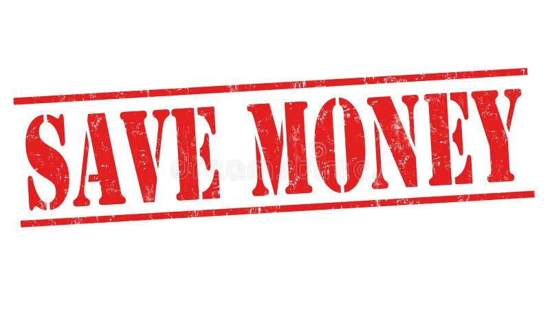 Salvar o sinal ou o selo do dinheiro ilustração do vetor