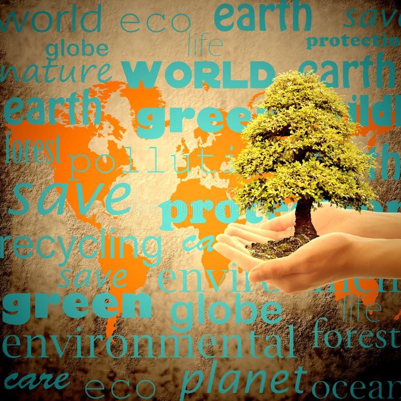 Salvar a terra do planeta foto de stock
