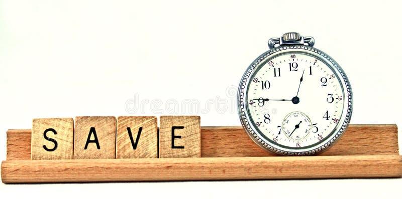 Salvare tempo immagini stock