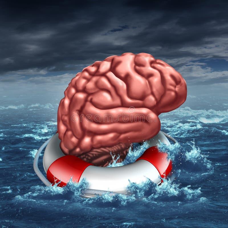 Salvataggio del vostro cervello illustrazione di stock