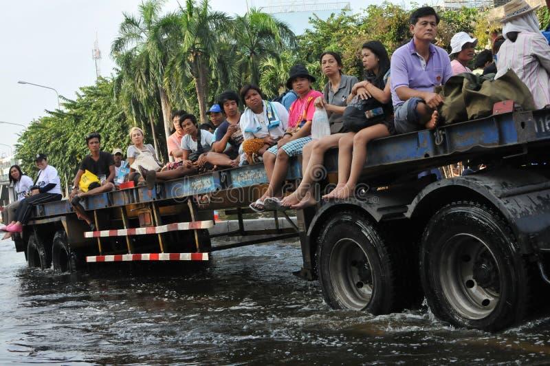 Salvataggio dell'inondazione fotografia stock