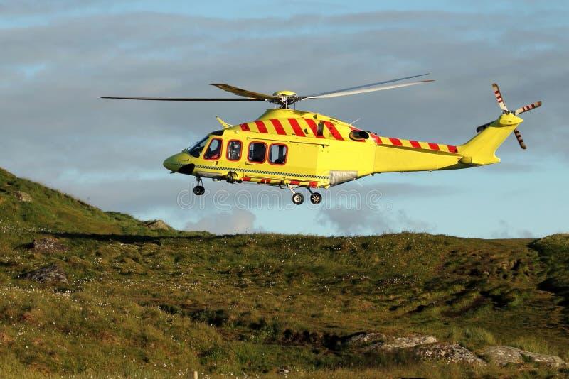 Salvataggio di elicottero fotografie stock